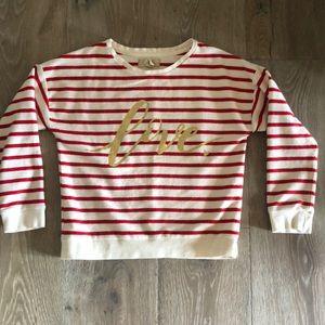 Girls Peek love sweatshirt ❤️